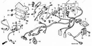 Honda Motorcycle 2003 Oem Parts Diagram For Wire Harness