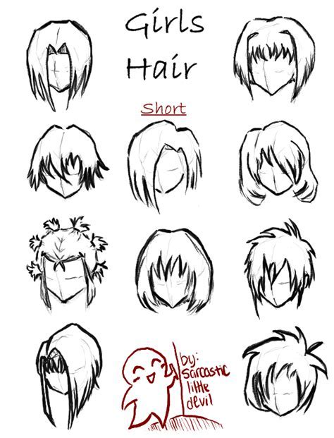 Short Anime Hairstyles For Girls