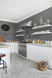 Tendance cuisine 50 exemples avec la couleur grise for Idee deco mur cuisine ouverte