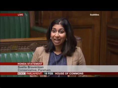 Suella Braverman MP responding to the Honda Statement ...