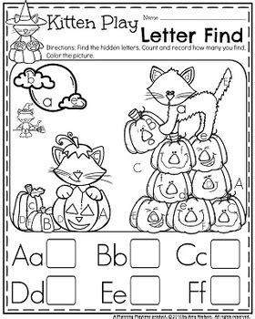 Preschool Worksheets  October By Planning Playtime Tpt
