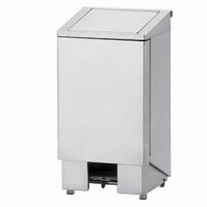 Poubelle 120 Litres : poubelle inox p dale couvercle avec v rin 120 litres ~ Melissatoandfro.com Idées de Décoration