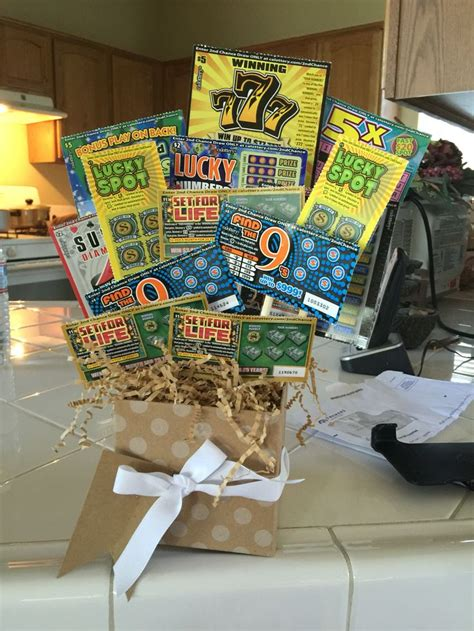 fathers day lottery ticket bouquet lottery ticket