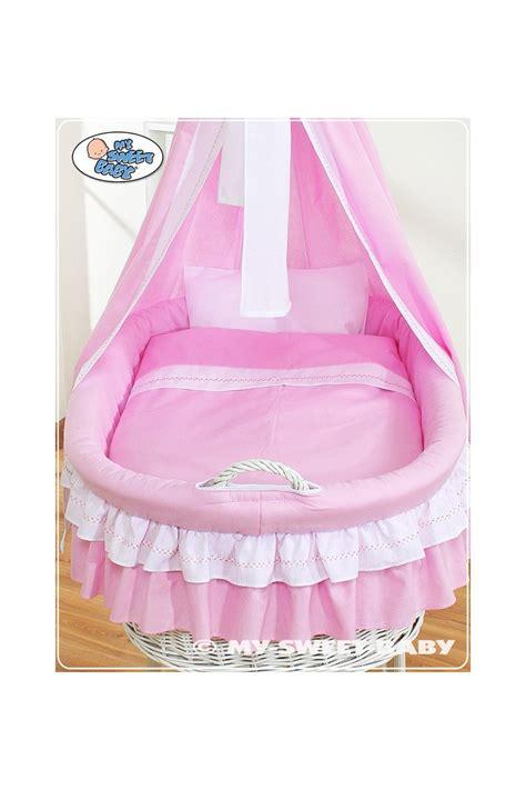 culle neonato neonato vimini bellamy rosa