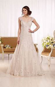 a line wedding dress with embellished sweetheart neckline With a line wedding dress
