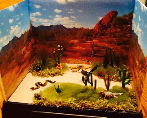 desert diorama printables printableecom