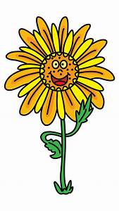 Check Out This Cute Happy Sunflower Step By Step