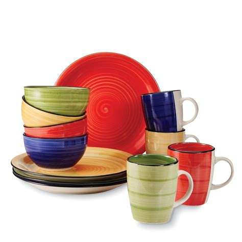 gibson  pc dinnerware set color vibes