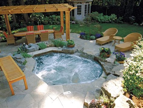 inground tub ideas betz inground spa backyard pinterest backyard hot tubs and tubs