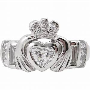 heart 101ct diamond irish claddagh engagement wedding With claddagh diamond wedding ring