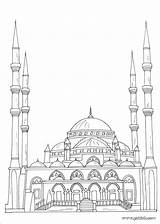 Mosque Coloring Pages Ramadan Islamic Arabic Alphabet Muslim Children Crafts Books Islam Sheets Drawing Template Raskraski Arab Eid Mandala Colouring sketch template