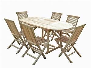 Salon De Jardin En Teck En Promotion : salon de jardin en teck solo 6 chaises c l jardin ~ Teatrodelosmanantiales.com Idées de Décoration