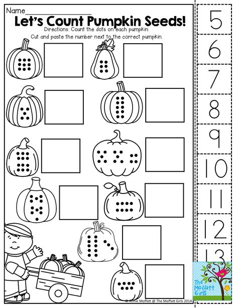 free cut and paste math worksheets for kindergarten kindergarten count features cut and paste tons of fun printables basic halloween math