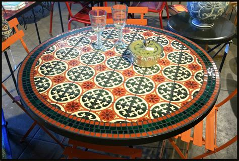 Mosaic Tile Outdoor Table by Popular Tile Patio Furniture And Outdoor Ceramic Tile