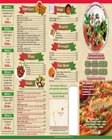 Free Take Out Menu Templates by Takeout Menu Template For Free Formtemplate