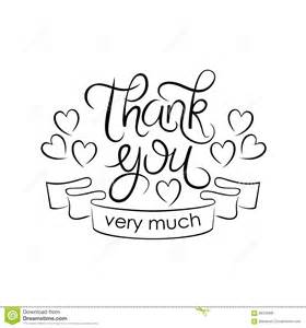 lettering thank you much on white background stock vector image 66315995