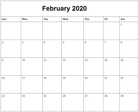 printable february  calendar uk  holidays