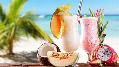 Drinks Shake Beach 4k Cocktails Fruit Milk