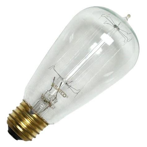 satco 02423 60 watt 120 volt st19 cage style filament
