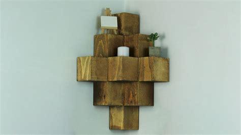 wood corner shelves build a novel wood cube corner shelf Diy