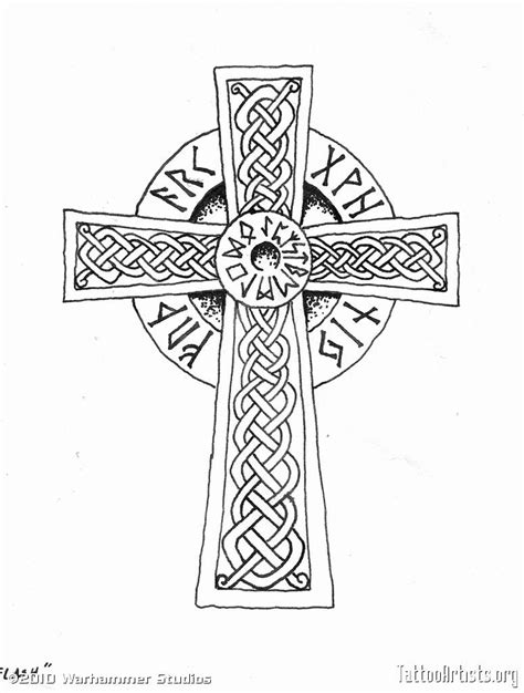 viking cross - anyone know what the writing is? perhaps use that space for fam. | Viking tattoos