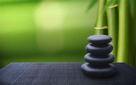 Bamboo And Zen Stones Wallpaper  Wallpaper Wide Hd