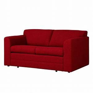 Canapé Rouge Convertible : canap convertible helena tissu rouge roomscape par roomscape chez home24 fr ~ Teatrodelosmanantiales.com Idées de Décoration