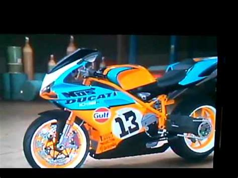 gulf racing motorcycle ducati quot gulf quot racing bike mncla youtube