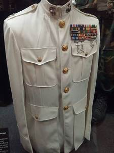 White dress uniforms for Marine Corps officers ...