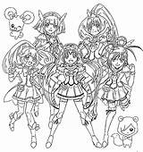 Glitter Force Coloring Pages Coloriage Imprimer Sheets Smile Pretty Cure Printable Fille Balloons Games Dessin Team Mostly Custom Colorier Vans sketch template