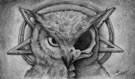 Creepy Owl Wallpapers by Evil Owl S Skull By Sarembaart On Deviantart