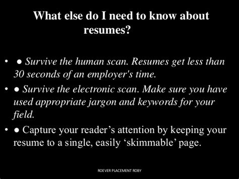 Electronic Resume Scanning Keywords by Resume Ppt Roever Roby