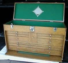 nice antique walnut gerstner  drawer machinist chest