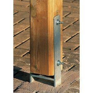 Carport Post Anchors by H Anchor Kit Architectural Details Lean To Carport