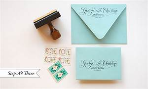 diy quotlittle blue boxquot inspired rubber stamp wedding With return address wedding invitations living together