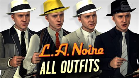 LA Noire Remaster - All Outfits - YouTube