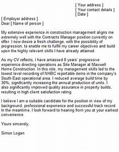 construction manager cover letter sample With how to write a cover letter for construction job