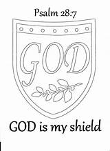 Coloring Shield Bible Faith Pages God Sunday Medieval Church Psalm Crafts Journal Armour Study Psalms Toddler Activity Lessons David Activities sketch template
