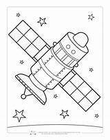 Coloring Space Pages Satellite Sheets Printables Itsybitsyfun Printable Drawing Moon Fun Colour Children Astronaut Lire Read sketch template