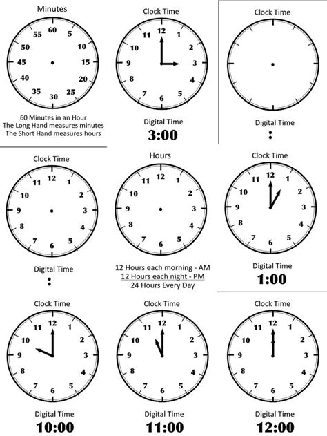 learning time preschool 18 best images of learning to tell time worksheets 967