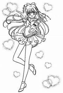 Gratis Ausmalbild Manga Mädchen Mit Lamions Kostenlos