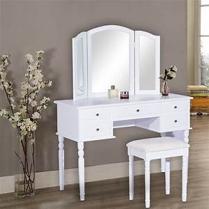 Furniture: Add Elegance White Vanity Table That Suits Your