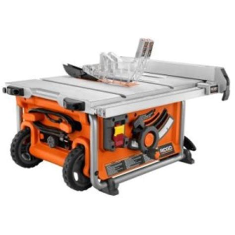 ridgid 15 10 in compact table saw new ridgid r45161 compact portable table saw 10 quot blade