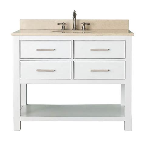 42 inch white vanity with marble top 1804brks42wtb 1