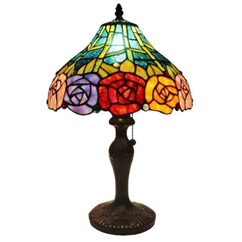 amora lighting 19 in tiffany style roses table l