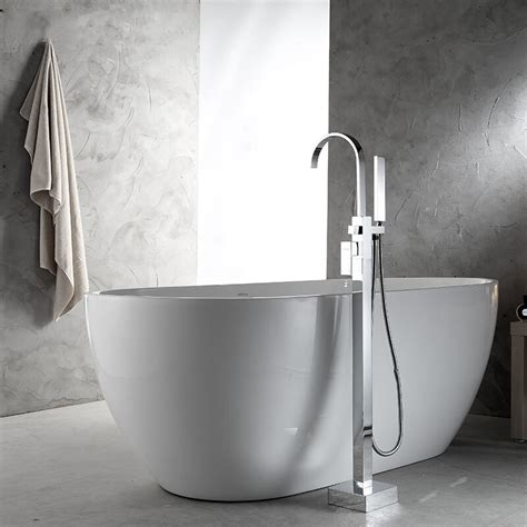 bathroom freestanding bath tub filler floor bathtub faucet