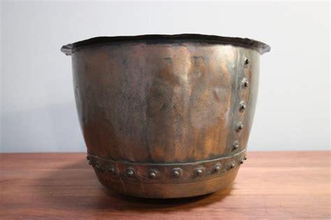 copper planters antiques atlas 19th century rivetted antique copper bowl planter