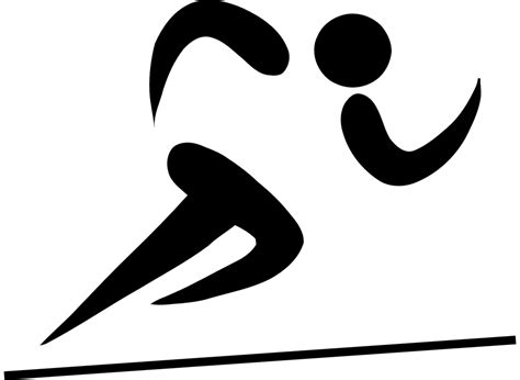 free vector graphic sprint running course sports