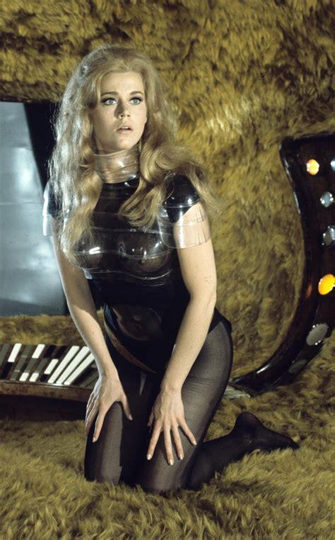 jane fonda undressing in zero gravity barbarella stills 1968