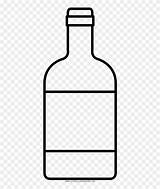 Bottle Whisky Clipart Coloring Glass Pinclipart sketch template